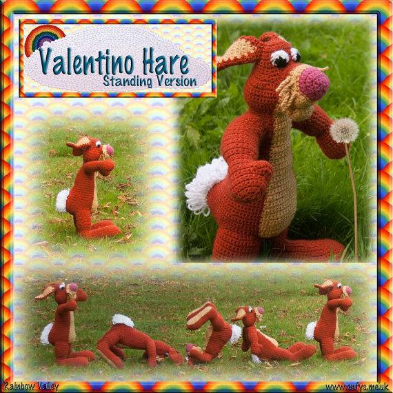 Valentino Hare Crochet Kit by RainbowValleyCrochet