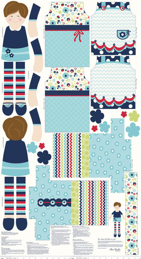 Dress Up Days Panel in Blue by Riley Blake – 24 inches by ScrappyGirlShoppe