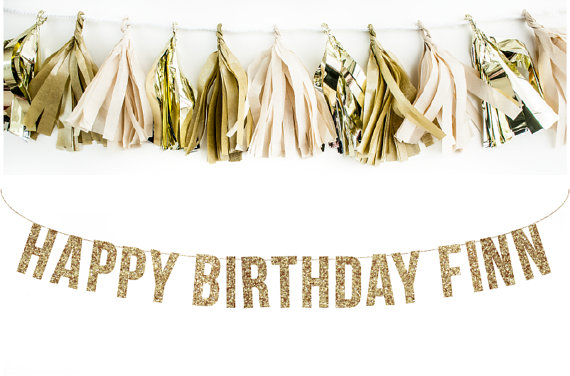 Custom Happy Birthday Banner. Glitter Garland Adult. 40th Birthday. Kids Parties. 30th Birthday. Adult Birthday. Gold Glitter by LittleRetreats
