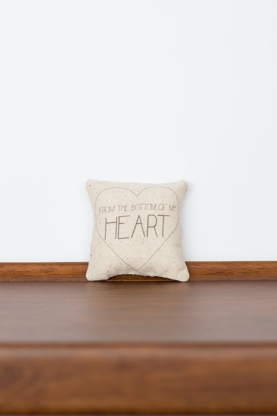 From the Bottom of my Heart TinyTalk Pillow | Friend Gift | Gift for Her | Love you more | Boyfriend Gift | Anniversary Gift | Mens Gift by cayteelynn