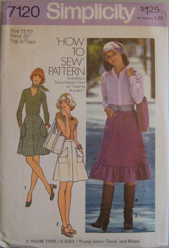 OOP Vintage Simplicity Sewing Pattern 7120 size Yng Jr/Teen 11 / 12 Uncut by AmberLiteTreasures