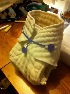 Prefold Diaper Conversion to a Prefitted Diaper