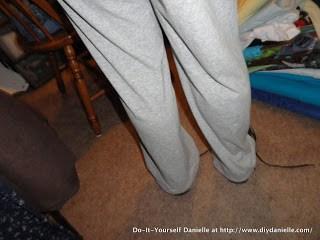 Hemmed sweatpants.
