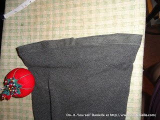Hemming sweatpants while keeping the original hem.