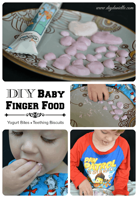 DIY Baby Finger Foods: How to make yogurt bites and teething biscuits for babies.
