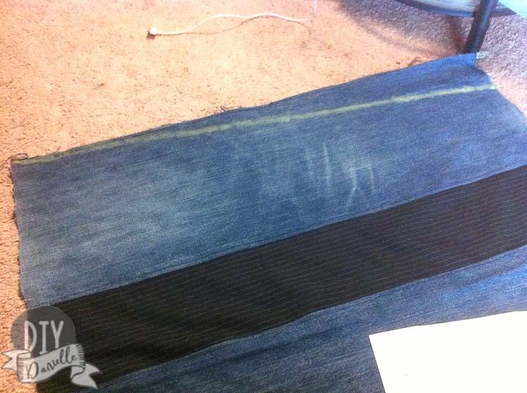 Chalk mark where I cut skirt.