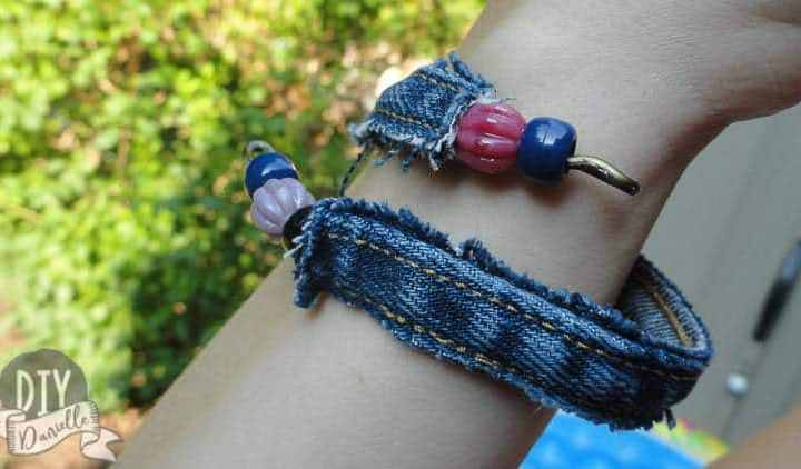How to Make a Denim Bracelet from Upcycled Jeans