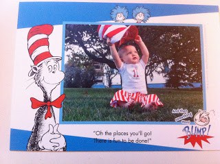 Front of Dr. Seuss thank you card.