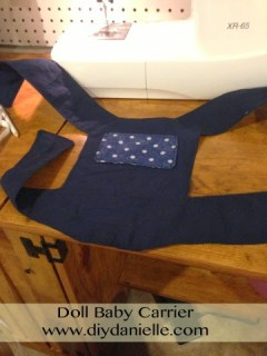 How to make a doll carrier for your toddler