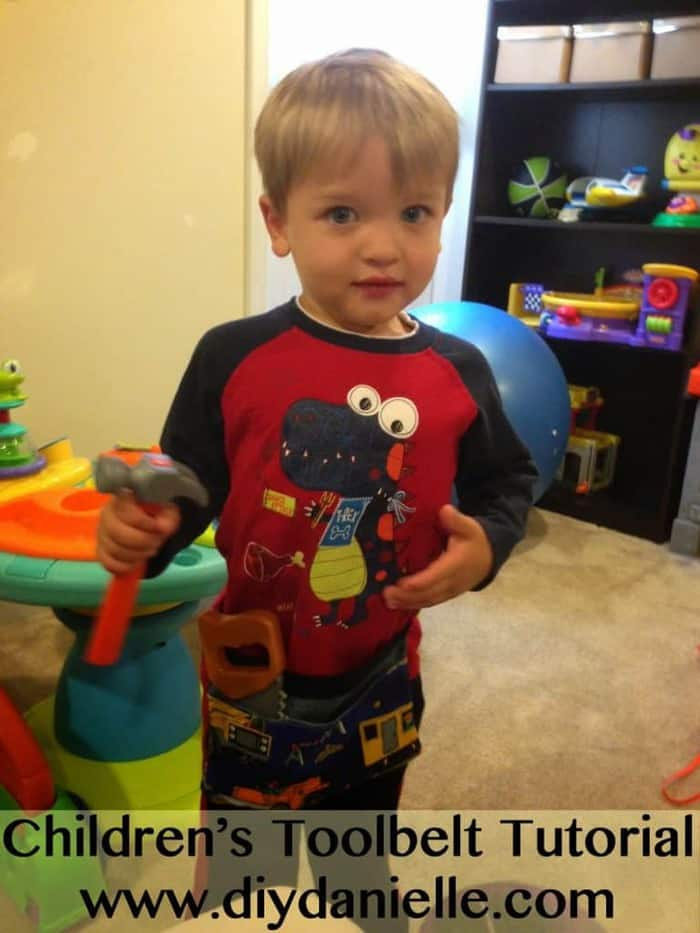 How to make a children's tool belt for make believe play!