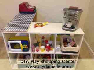 how to make an easy shopping center for pretend play