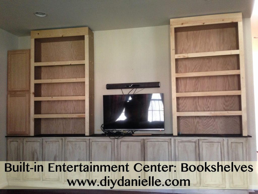 How to make bookshelves for your built-in entertainment center.