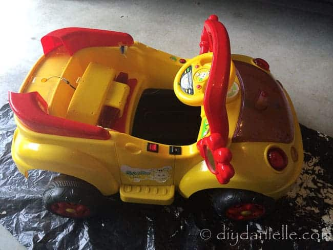 Before picture of a DIY Superhero Car
