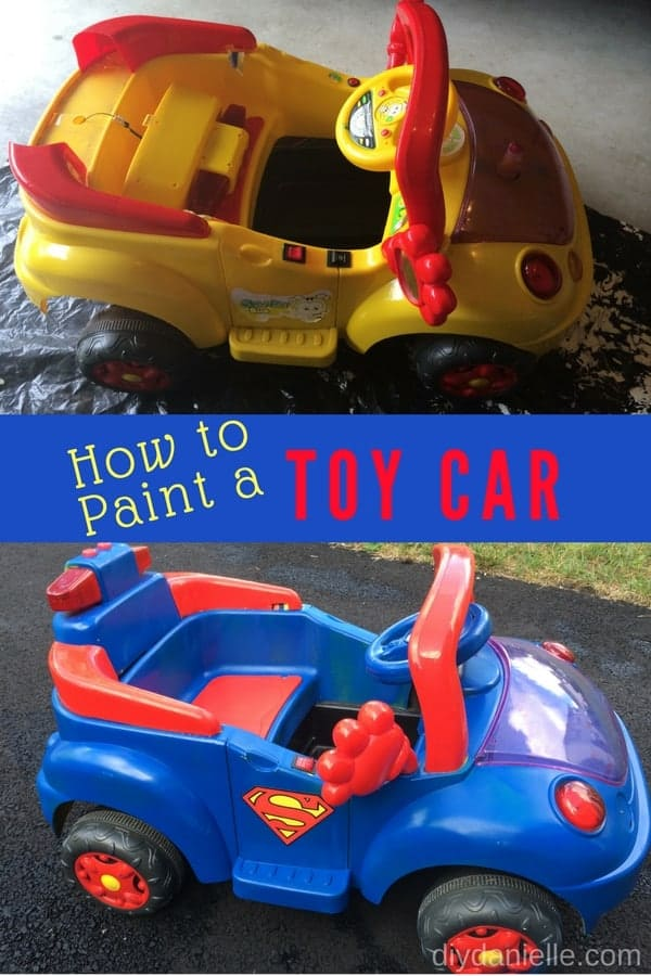Learn how to paint a toy car. This easy DIY Superhero car is easy to create with some spray paint and creativity!