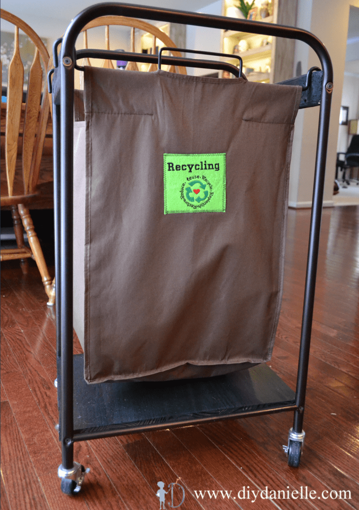 How I upcycled a broken laundry sorter into a useful indoor recycling bin on wheels.