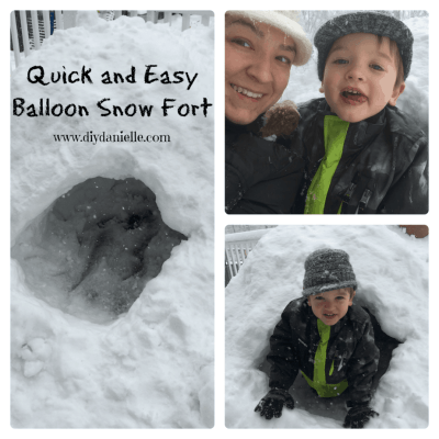 How to build an awesome snow fort using balloons!
