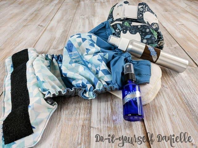 How to make diaper rash spray with essential oils.