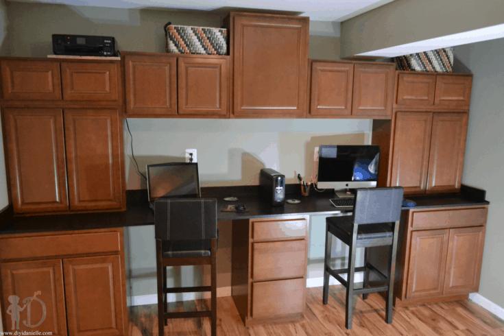 DIY Built In Desks for Home Office