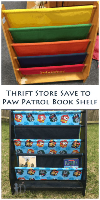 How to fix a broken book rack to turn it into a fabulous Paw Patrol bookshelf!