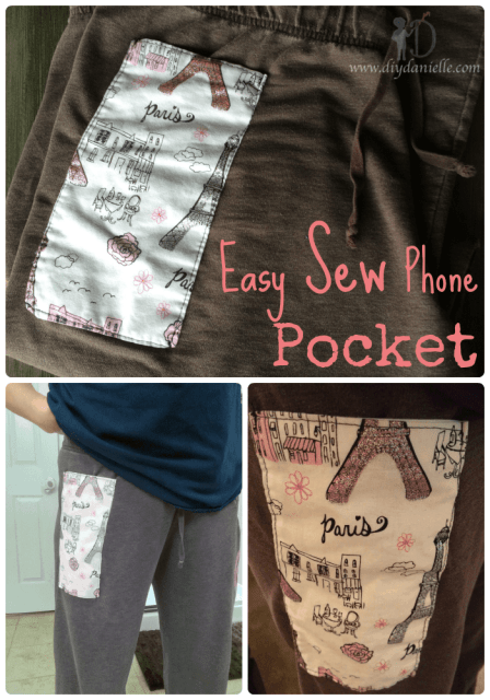 How to add an easy pocket to your pants to hold your cell phone.