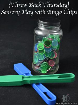 {Throw Back Thursday} Sensory Play with Bingo Chips