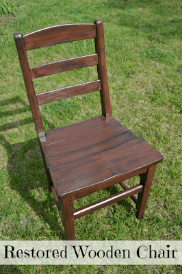Restored Wooden Chair: Saving the Life of an Old Wood Chair