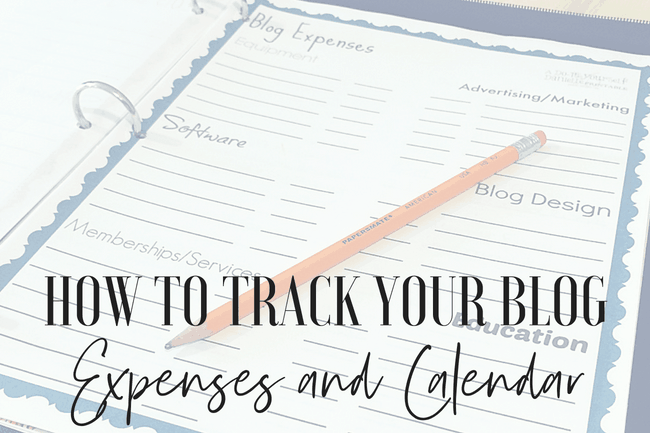 Free Blogging Expenses Printable and a Blog Schedule