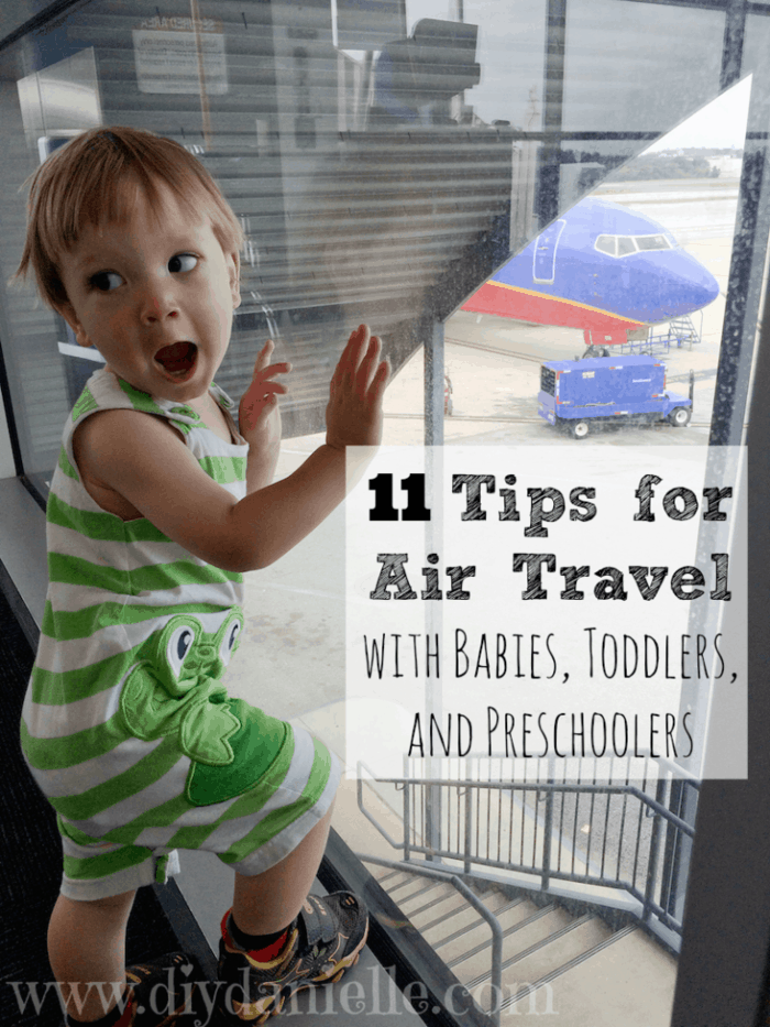 Tips for air travel with children.