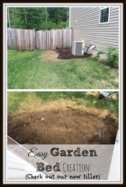 Easy Garden Bed Creation {Check out our new tiller}