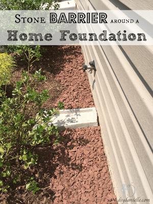 Stone Barrier around a Home Foundation