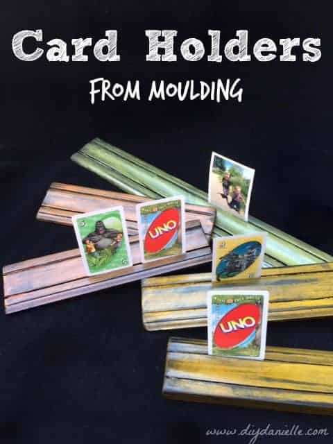 How to make your own card holders from wood moulding.