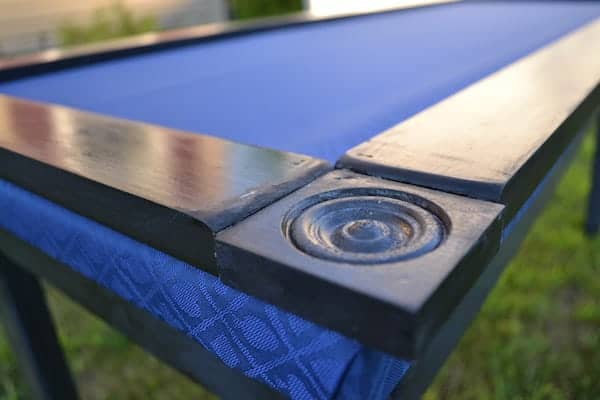 Edge around the gaming table.