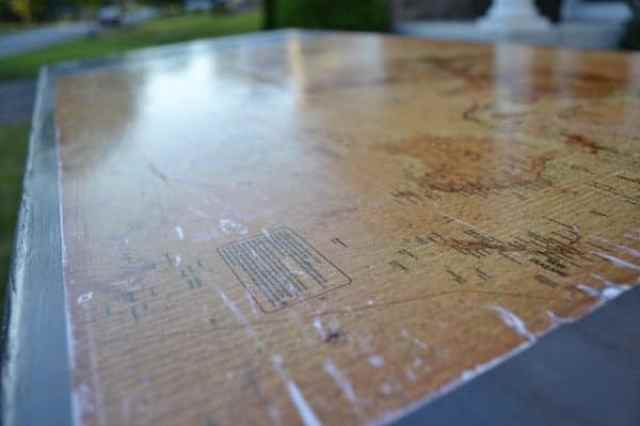 Map top for the gaming table so that it functions as a desk as well.