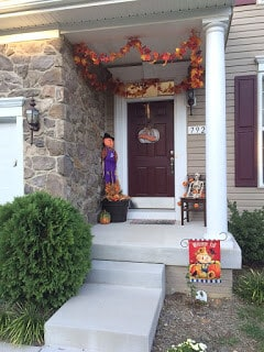 My front porch Fall and Halloween decorations for 2015.