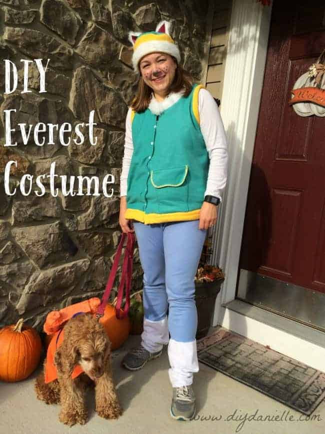 DIY Everest Costume from Paw Patrol