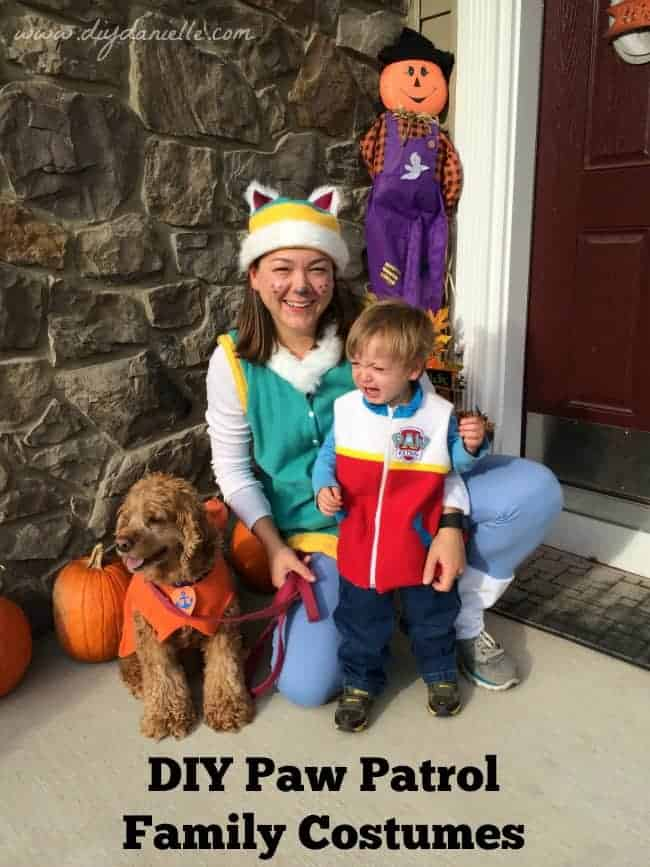 Paw Patrol Family Halloween Costumes: Unhappy Ryder