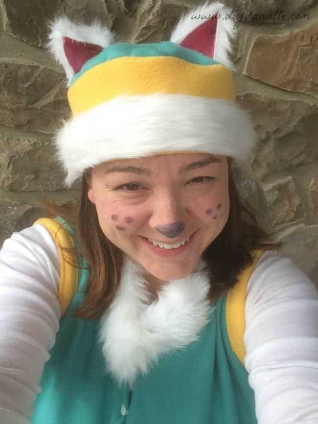 Makeup closeup for Everest costume.