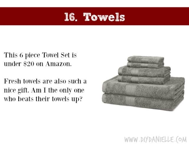 Holiday Gift Idea for Adults: Towels