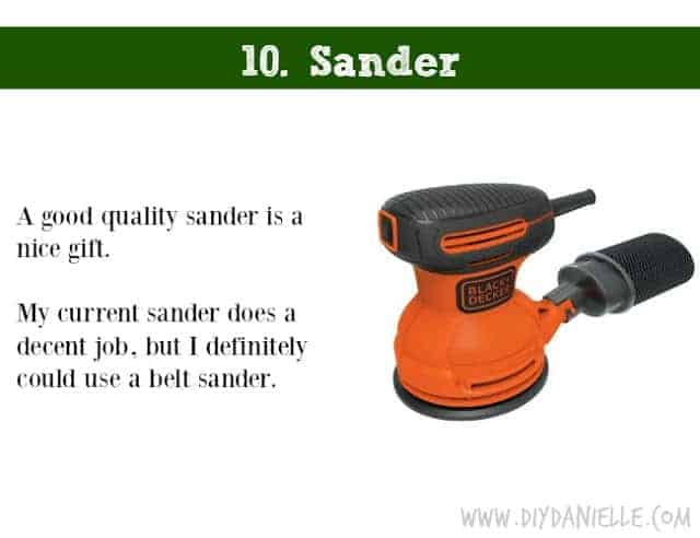 Holiday DIY Gift Guide: Sander