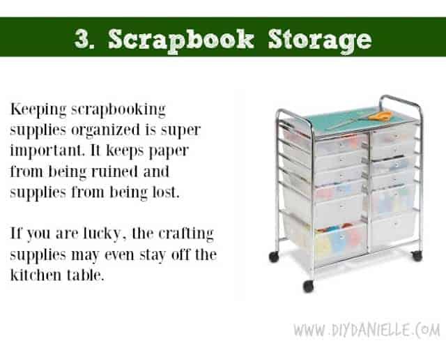 Holiday DIY Gift Guide: Scrapbook Storage