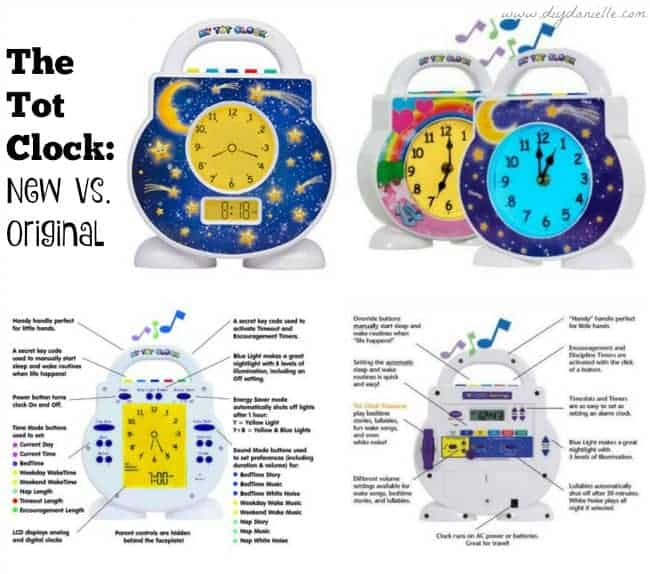 Comparison of the Tot Clock and the new vs. original versions.