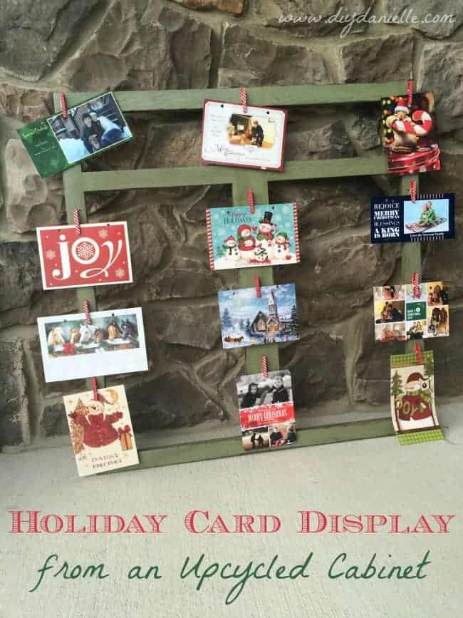 DIY Christmas Card Display.