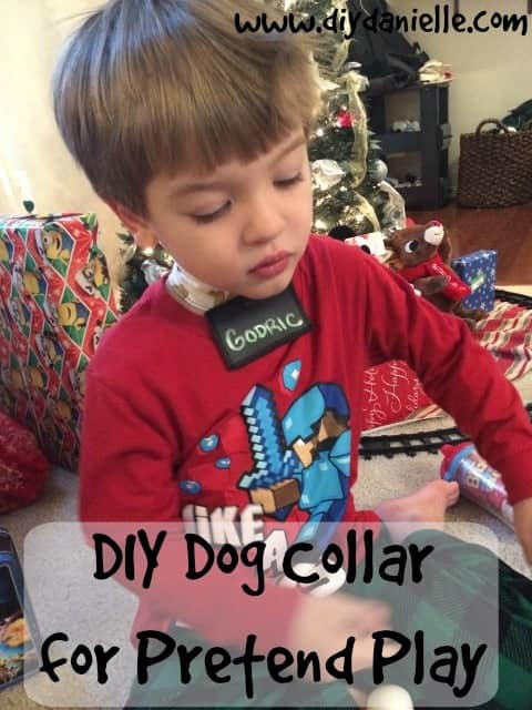 Sew a Pretend Dog Collar for Toddler