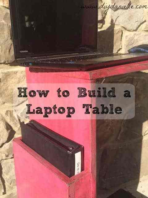 How to build a simple laptop desk to use on the couch.