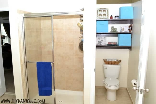 Shelving and Decor for Organizing a Small Toilet Room
