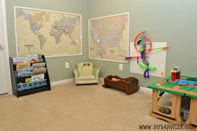 How to frame large maps for wall decoration.