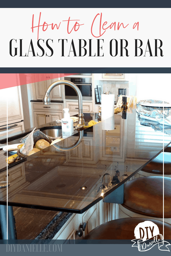 Learn how to clean a glass table or bar, as well as how to do less cleaning in the future.