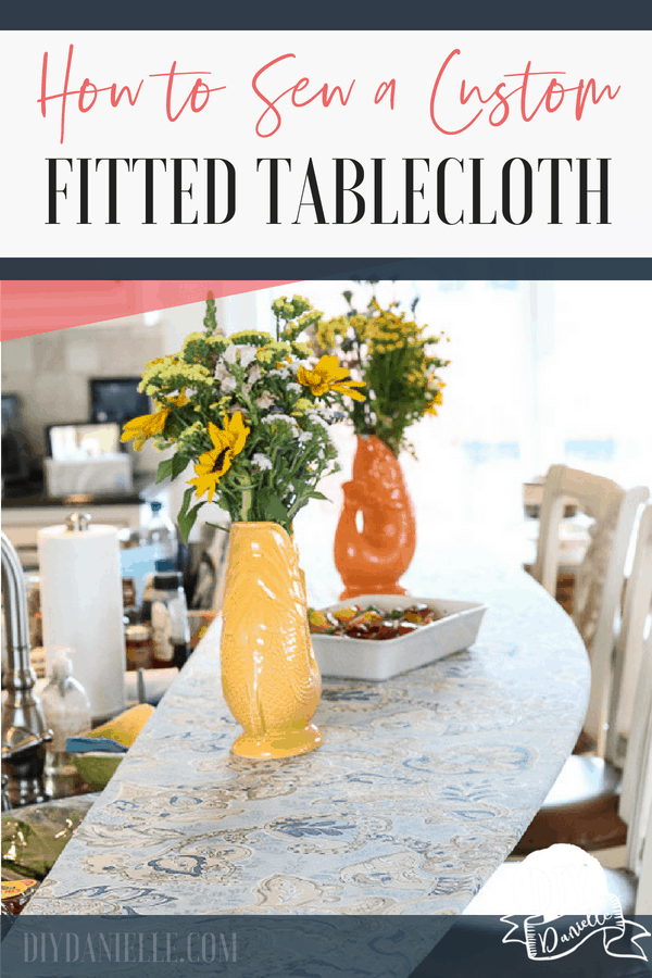 How to make a custom fitted tablecloth to cover a glass table or bar. This helps prevent a lot of difficult cleaning.