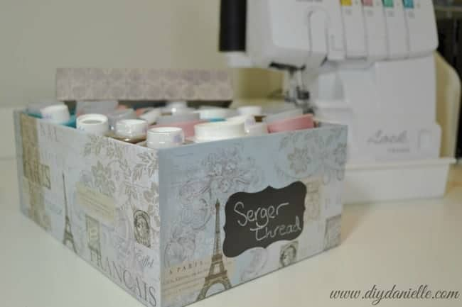 How to store serger thread.