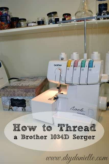 How t o Thread a Brother 1034D Serger